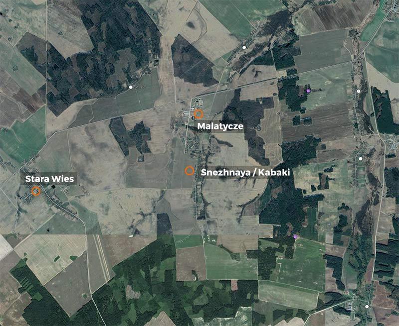 Stara Wies, Malatycze et Sneznaya (anciennement Kabaki).