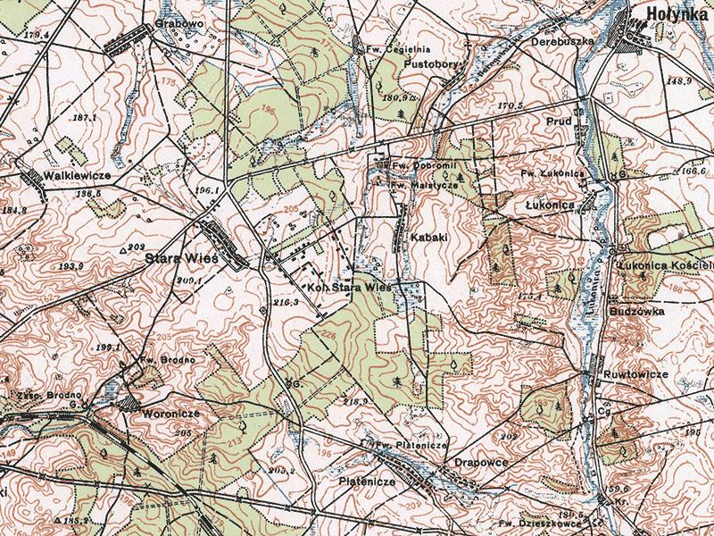 Malatycze, carte de 1926-1930.